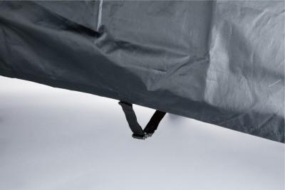 センターバックル 強風時のバタつきやめくれを防止。水撥ね対策にも有効です