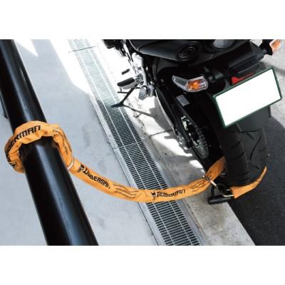 地面に接していない(中空にある)チェーンロックは対油圧カッター等に有効。