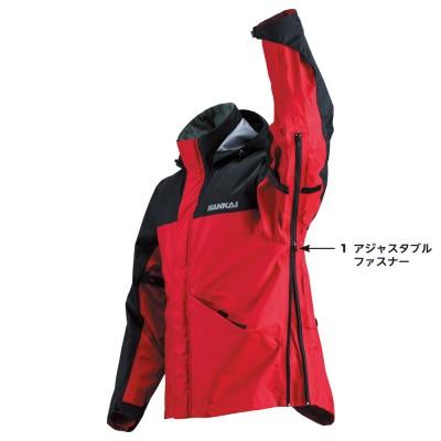 A.レッド/ブラック  腕から胴にかけてのファスナー開閉でサイズアップ・ダウンが可能。季節を選ばずタイトな着心地を実現。