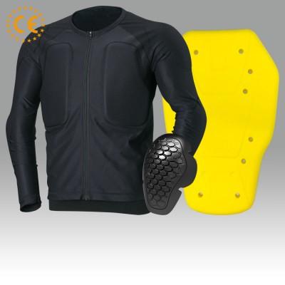 CE Approved protector Flexible material新提案のメッシュストレッチプロテクターインナーと重ね着してのライダーズジャケット。プロテクターインナーを着用せずカジュアルスタイルとして使用する2スタイル。