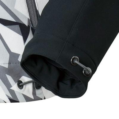 襟元・手首・裾部分はドローコードにてフィット感を変更可能。
