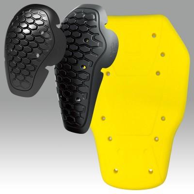 CE Approved protector Flexible material『CE』規格のソフトプロテクターを肩・肘・背中に標準装備、胸にはソフトパットを標準装備。